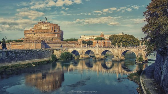 Обои Замок Sant Angelo in Rome / Сант Анджело в Риме, Manjik photography