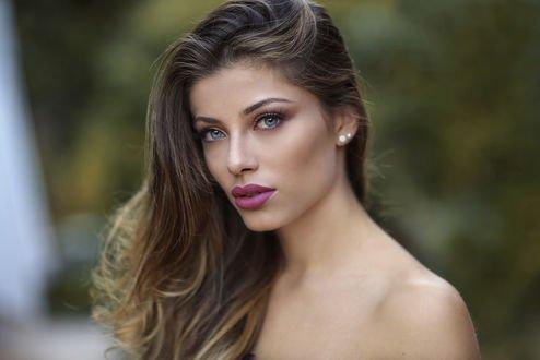 Обои Красивая сероглазая девушка, фотограф jessica napolitano