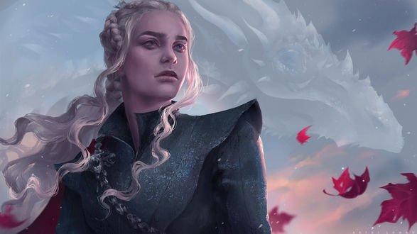 Обои Daenerys Targaryen / Дейнерис Таргариен из сериала Game Of Trones / Игра Престолов, by Astri-Lohne