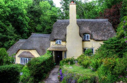 Обои Английский дом с красивым садом, графство Somerset / Сомерсет, автор Сомерсет
