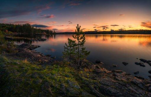 Обои Озеро Ringerike, Norway / Рингерике, Норвегия, by Ole Henrik Skjelstad