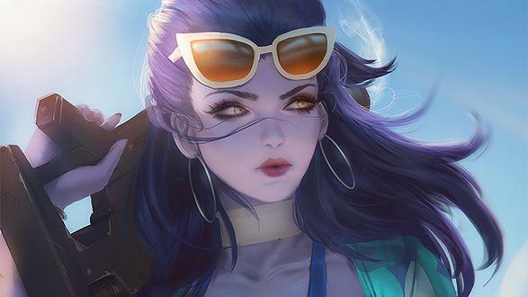 Обои D. VA / Ханна Сон из игры Overwatch / Дозор, by Sean Tay