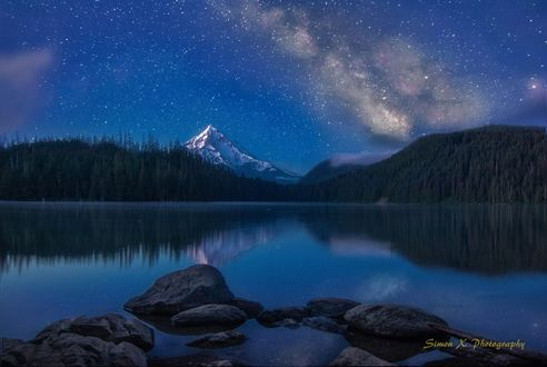 Обои Млечный путь на звездном небе, фотограф Simon W Xu