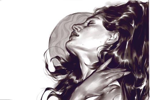 Обои Девушка с закрытыми глазами, by Vetyr