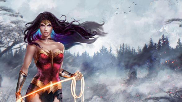 Обои Diana / Диана из фильма Wonder Woman / Чудо-Женщина