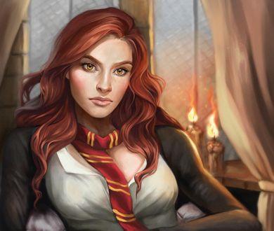 Обои Hermione Granger / Гермиона Грейнджер из фильма Harry Potter / Гарри Поттер, by Gabriella MacCallum