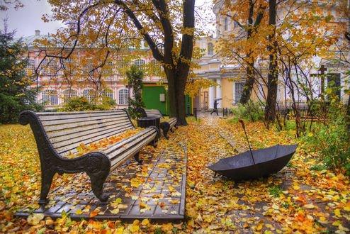Обои Александро-Невская лавра в октябре, Санкт-Петербург, фотограф Ed Gordeev