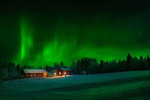 Обои Северные ночи, Sweden / Швеции, фотограф Adnan Bubalo