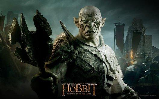 Обои Азог осквернитель с фильма Хоббит битва пяти воинств