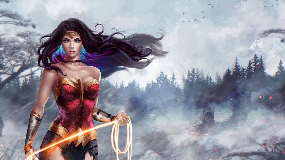 Обои для рабочего стола Diana / Диана из фильма Wonder Woman / Чудо-Женщина