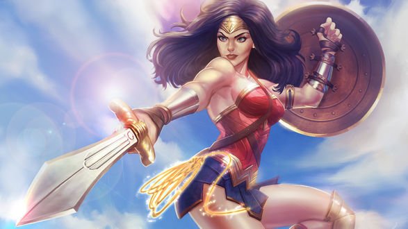 Обои Diana / Диана из фильма Wonder Woman / Чудо-Женщина, by victter-le-fou