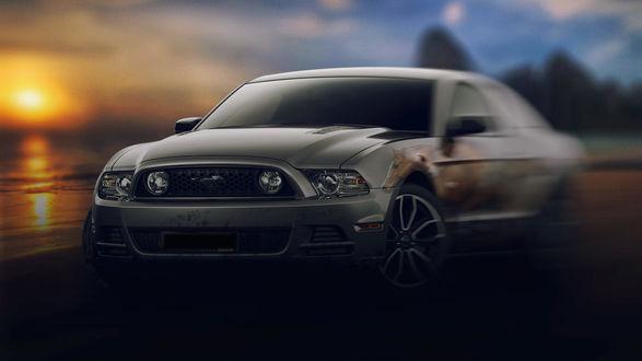 Обои Авто на фоне заката, фотограф David VIBESCRIB