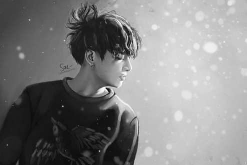 Обои Чон Чонгук / Jeon Jungkook из южно-корейской группы BTS, by getyourdragon