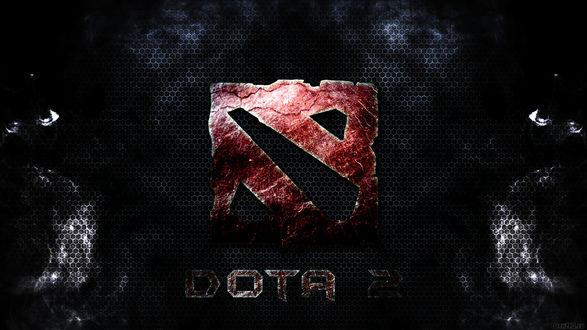 Обои Логотип известной многопользовательской стратегии Dota 2 / Дота 2