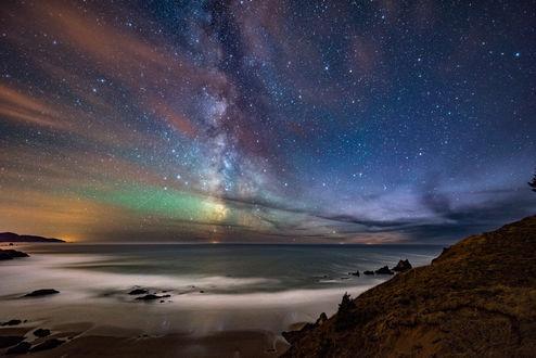 Обои Северное сияние на небе, фотограф Kevin Shearer