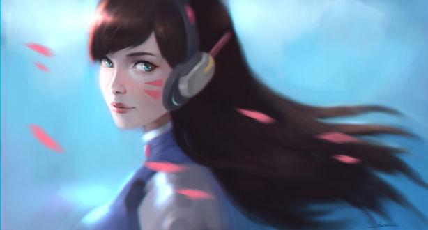 Обои D. VA / Ханна Сон из игры Overwatch / Дозор, by kazekuro22