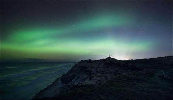 Обои Ночное небо с сиянием, фотограф Christian Wig