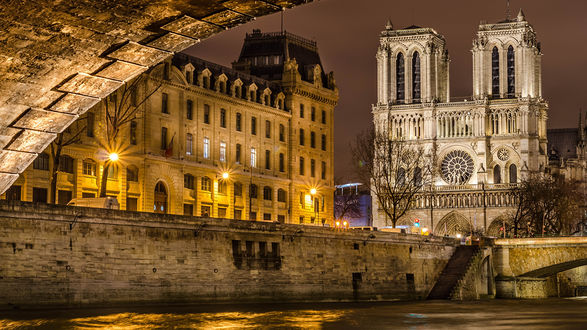 Обои Собор Парижской Богоматери. Париж, Франция / Paris France