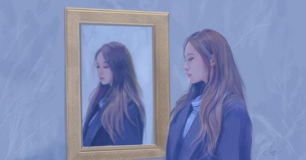 Обои Park Ji Yeon / Пак Джи Ён Южно-корейская певица, актриса, ведущая, модель, by chaosringen
