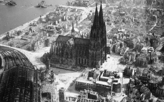 Обои Город Кельн, Германия / Germany, Кельский собор с вертолета