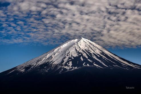 Обои Облака над горой Фудзияма. Фотограф Takashi