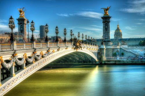 Обои Мост Александра III в Париже