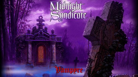 Обои Кладбище ночью в сиреневом тумане (Midnight Syndicate, Vampire)