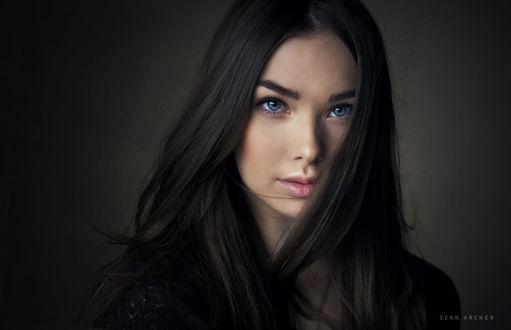 Обои Модель Саша с голубыми глазами, фотограф Sean Archer