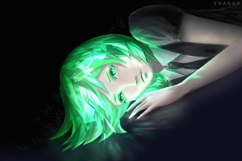 Обои Фосфофиллит / Phosphophyllite из аниме Страна самоцветов / Houseki no Kuni, by Zhange000