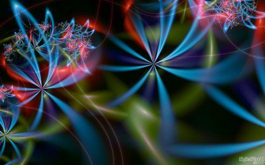Обои Цветные линии на фоне боке, by DigitalPix4All