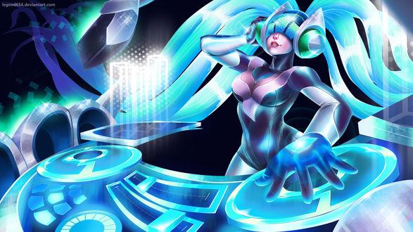 Обои DJ Sona Kinetic / Кинетическая Диджей Сона из игры Лига Легенд / League of Legends, by legend654