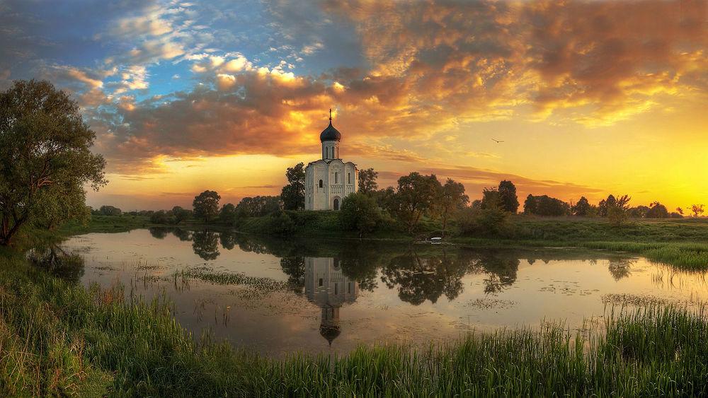 Обои Церковь Покрова на Нерли, Владимирская область, Россия ...
