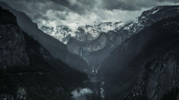 Обои Туманное горное ущелье, by Te0SX