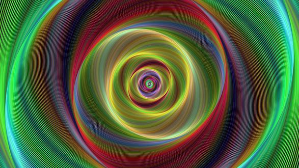 Обои Разноцветные фрактальные спирали