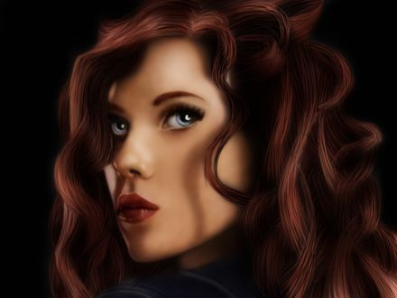 Обои Портрет Scarlett Johansson / Скарлетт Йоханссон в роли Black Widow / Черной Вдовы, by GingerLilys