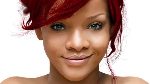 Обои Американская поп-певица и актриса Рианна Фенти / Rihanna Fenty, by Art-Gem