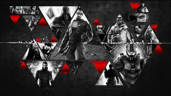 Обои Изображения героев из разных игр