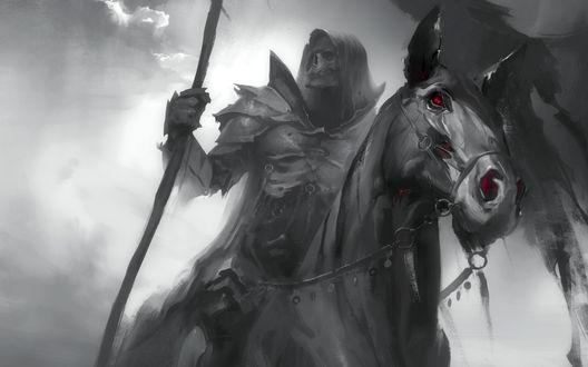 Обои Рыцарь смерти на коне