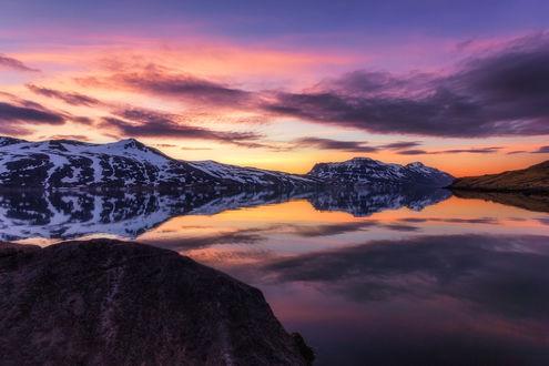 Обои Закат на полуострове Westfjords of Iceland / Вестфьорд, Исландии, фотограф Daniel Herr
