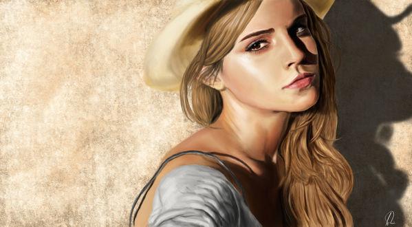 Обои Британская киноактриса и фотомодель Эмма Уотсон / Emma Watson, by aykuun
