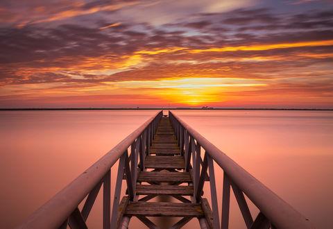 Обои Мост, уходящий к горизонту, фотограф Ricardo Mateus