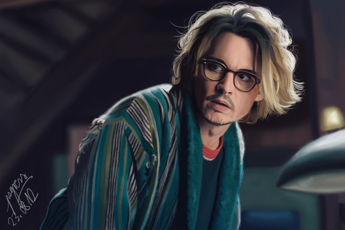 Обои Американский актер Джонни Депп / Johnny Depp, by Psyress