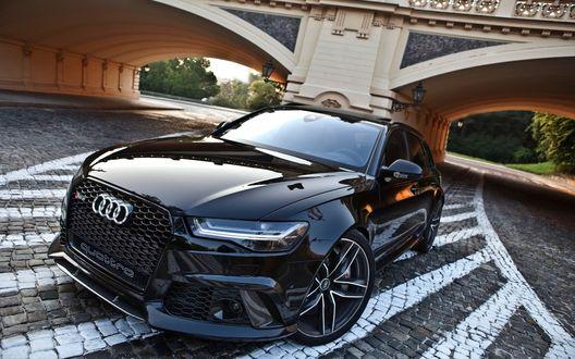 Обои Audi / ауди rs6 performance возле моста