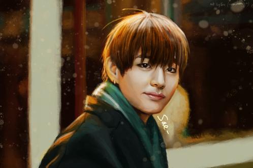 Обои Ви / V / Ким Тэ Хен / Kim Tae Hyung-участник южно-корейской группы BTS / BangTan Boys / Bulletproof Boy Scouts, by getyourdragon