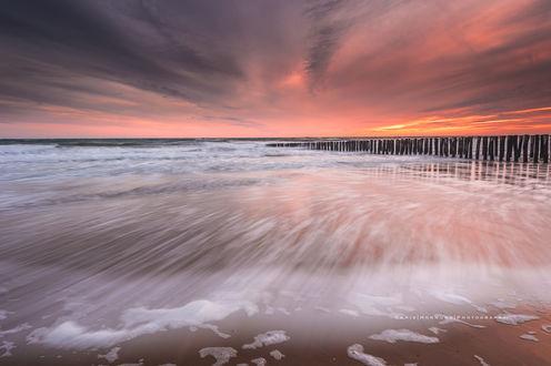Обои Zoutelande / Заутеланде - приморский курорт на закате, фотограф Chris Hornung