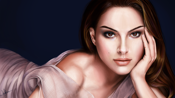 Обои Американская кктриса Натали Портман / Natalie Portman, by lara-cr