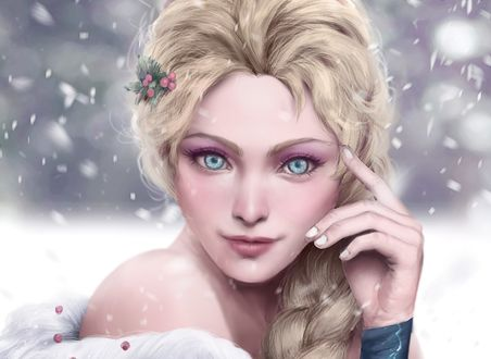 Обои Elsa / Эльза из мультфильма Frozen / Холодное сердце, by lorenzbasuki