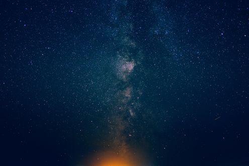 Обои Звездное ночное небо