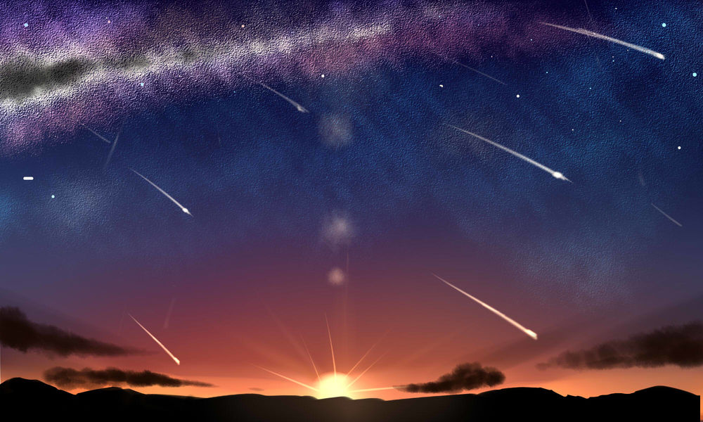 Картинки по запросу картинки анимации падающих звёзд на закате