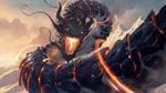 Обои Огненный дракон в облаках, by 88grzes